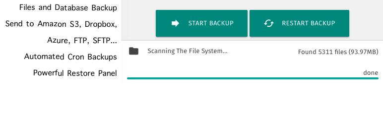 XCloner Backup and Restore