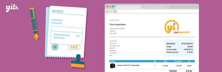 YITH WooCommerce PDF Invoice and Shipping List