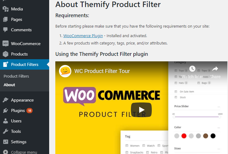 about themify product filter