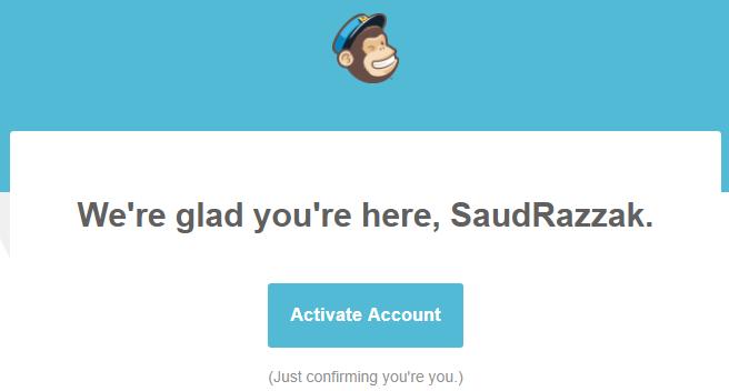 activate mailchimp account
