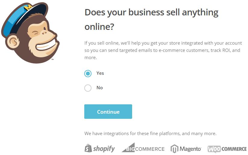 add mailchimp online business