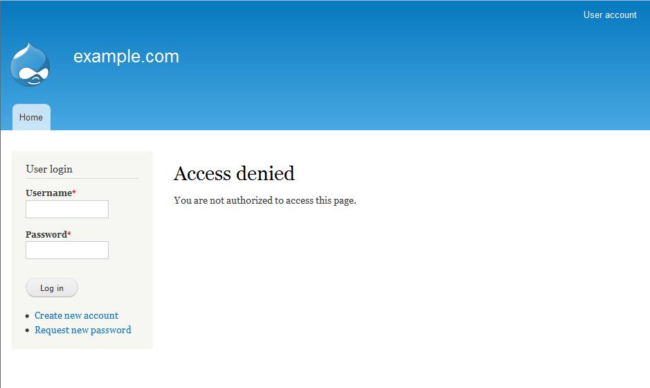Login to Drupal Admin Dashboard