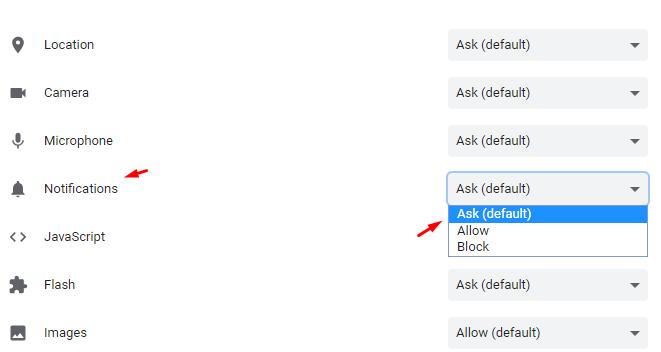 ask default