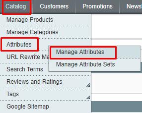 attributes-manage attributes magento