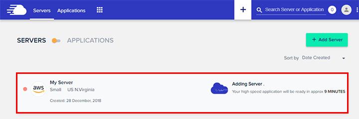aws adding server