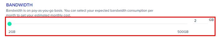 aws server bandwidth