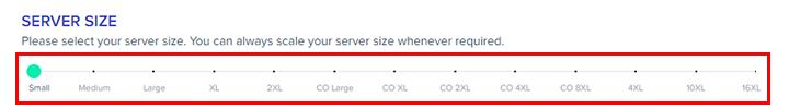 aws server size