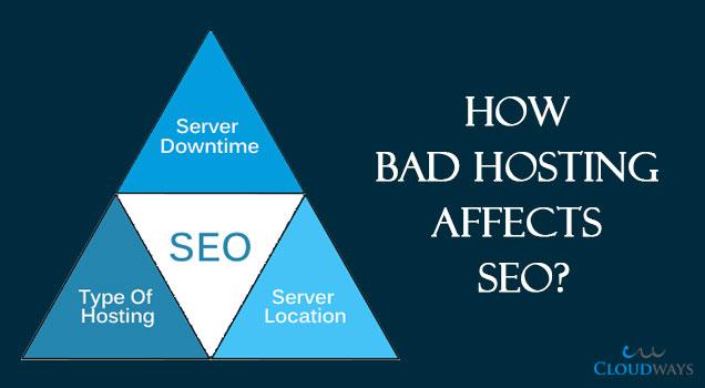 bad hosting affect seo