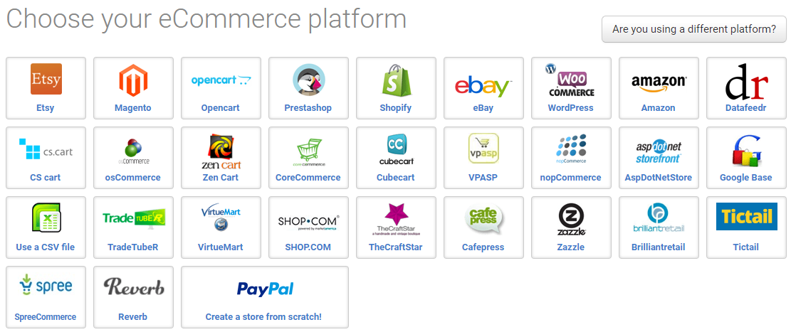 choose your ecommerce platform