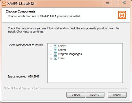 install XAMPP