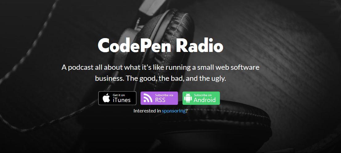 codepen web development podcast