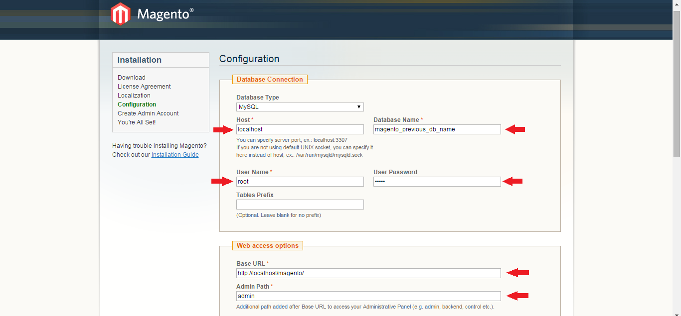Configuration Page of Magento 1.9