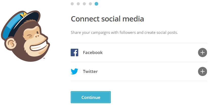 connect mailchimp social media