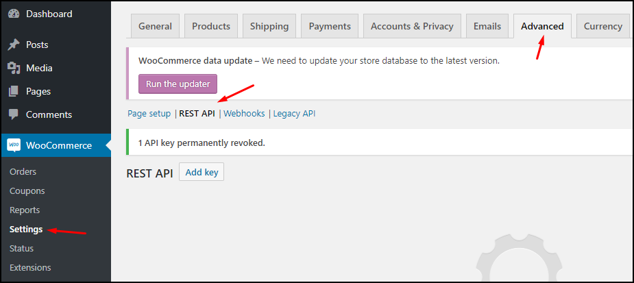 create a REST API permission in WooCommerce