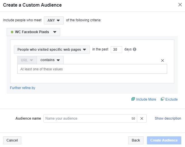 create custom audiance