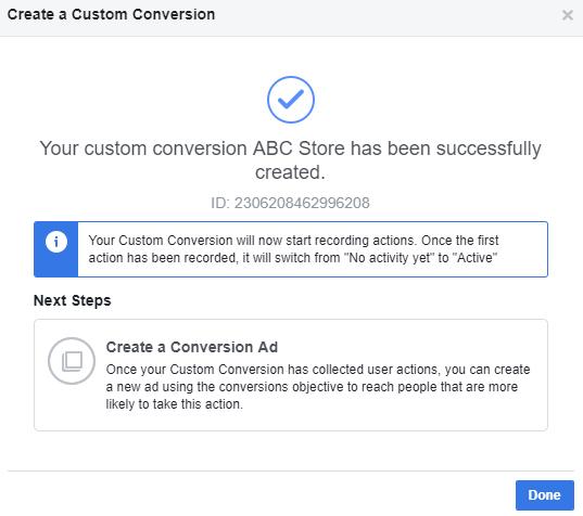 custom conversion create