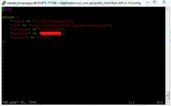 Create a Yii2 powered REST API and HTTP actions
