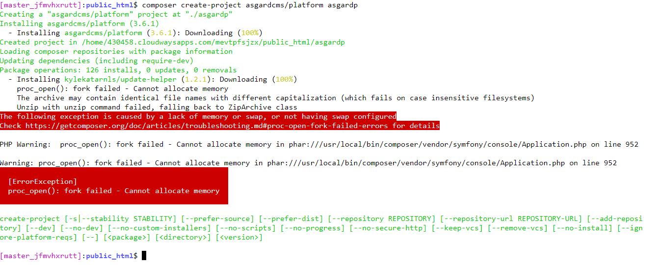 asgardcms installation error