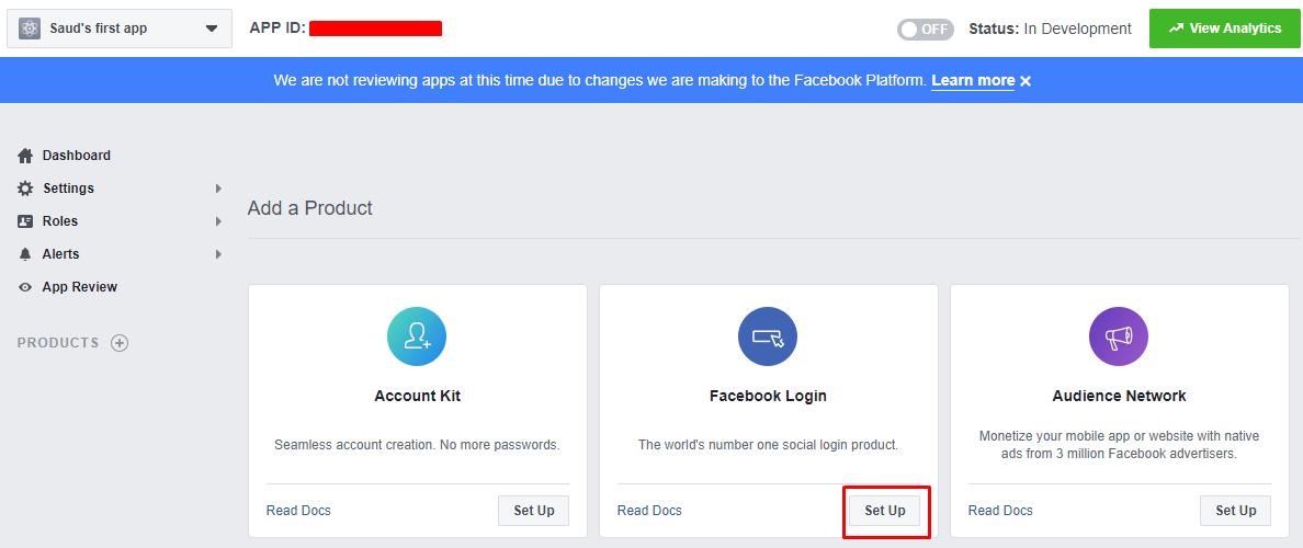 Facebook Login section - social login woocommerce