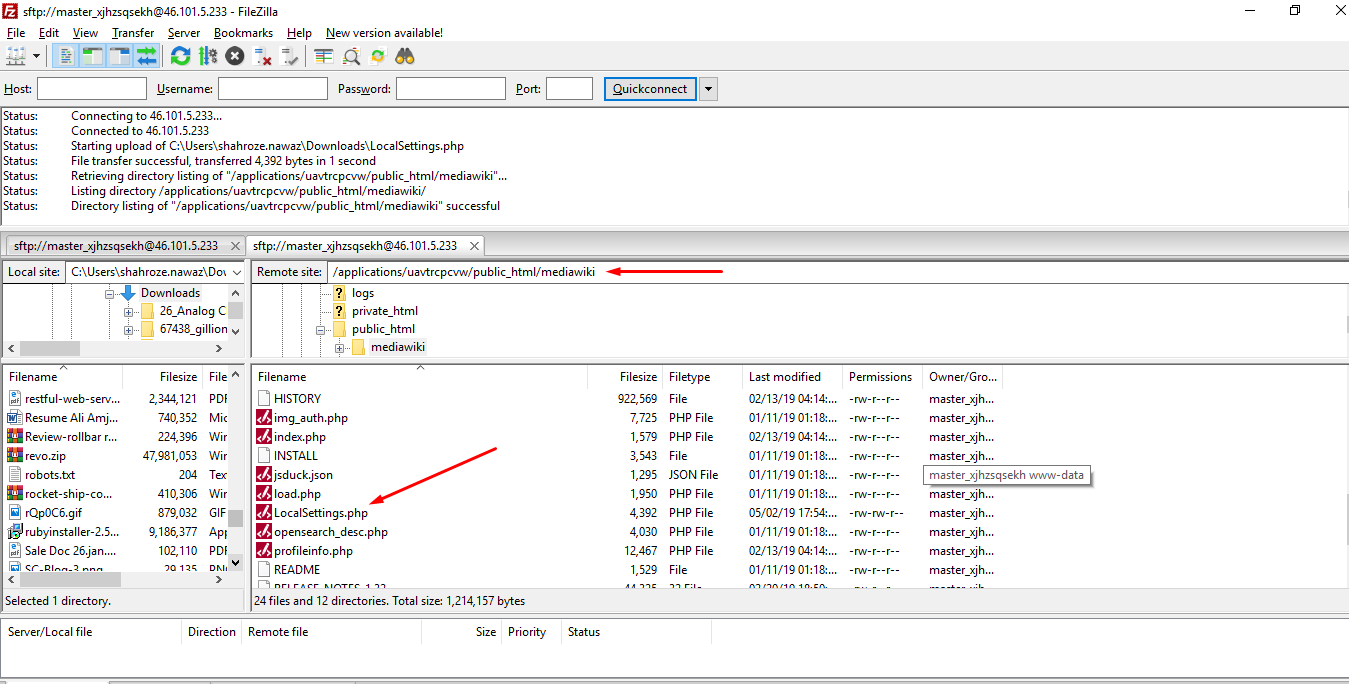 mediawiki install directory