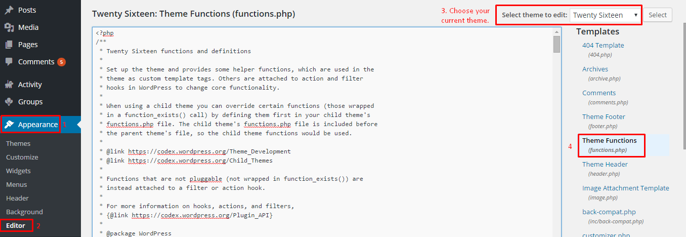 function php file