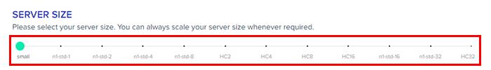 gce server size