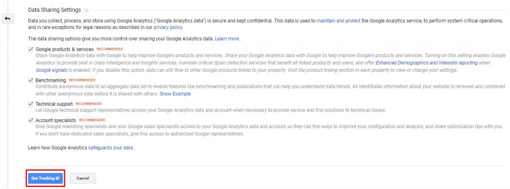 get tracking id - Magento google analytics