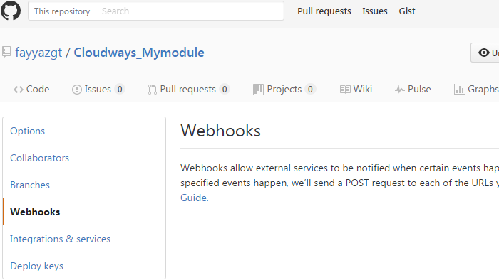 Git Webhooks