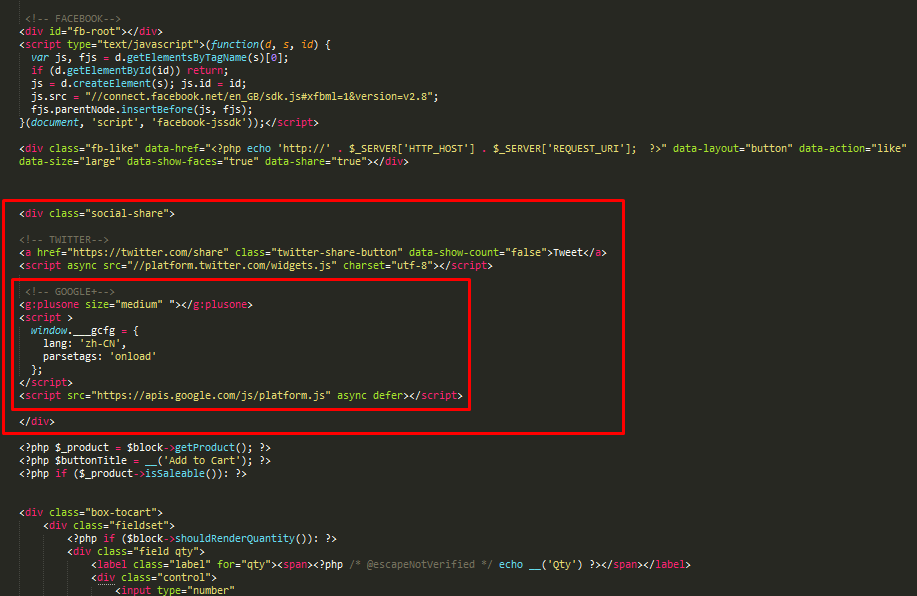 paste google+ code