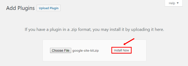 google site kit install plugin