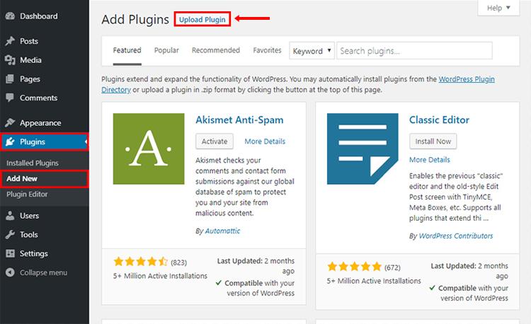 google site kit upload plugin