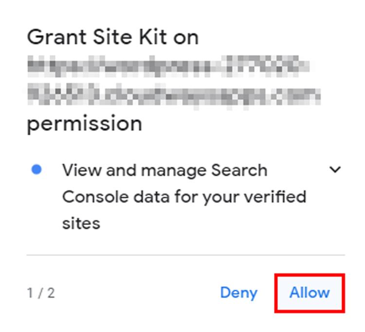 grant site kit permission
