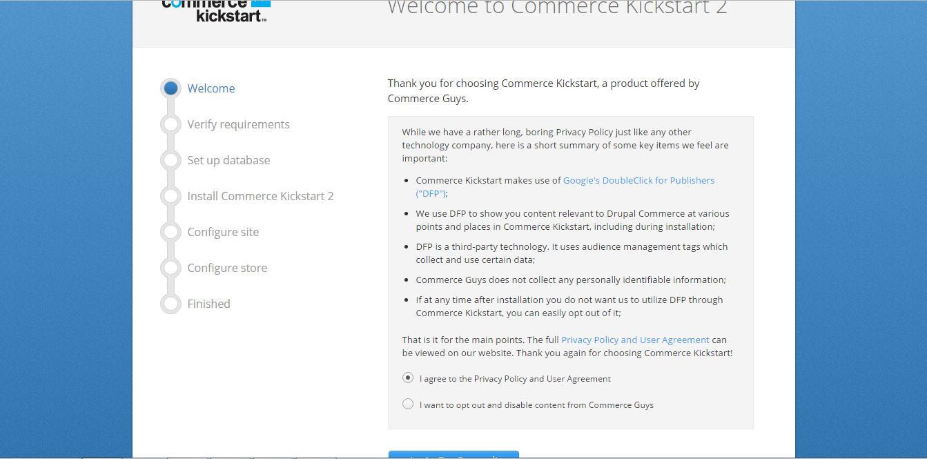 Welcome to Commerce Kickstart installation