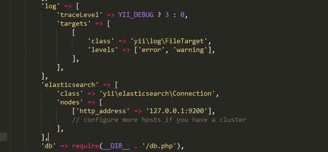 integrate ElasticSearch Yii2