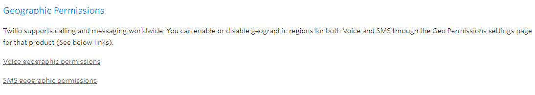 Enable Geographic Permissions