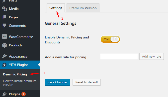 Dynamic Pricing Setting