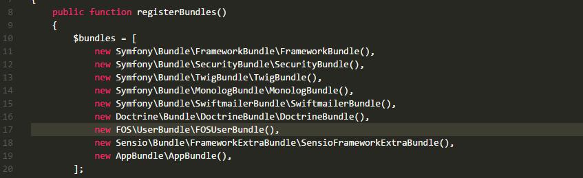 Enabling Bundle in AppKernel.php