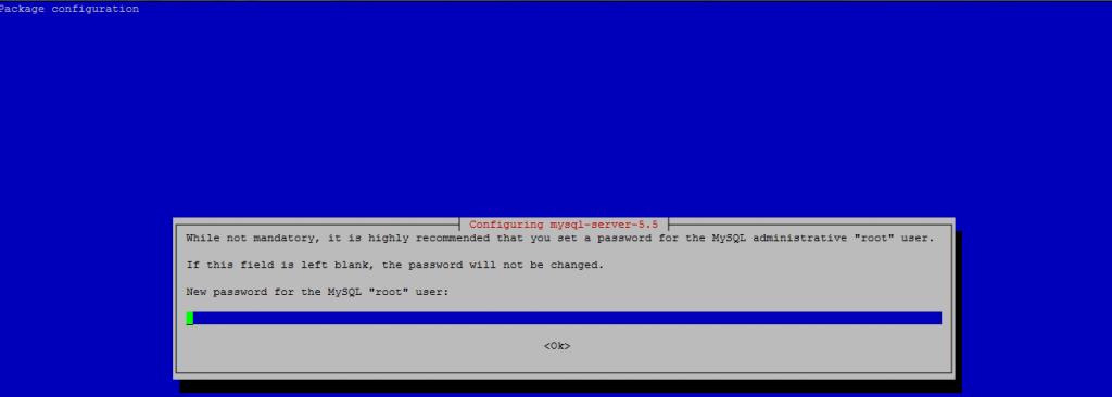 installing mysql on debian