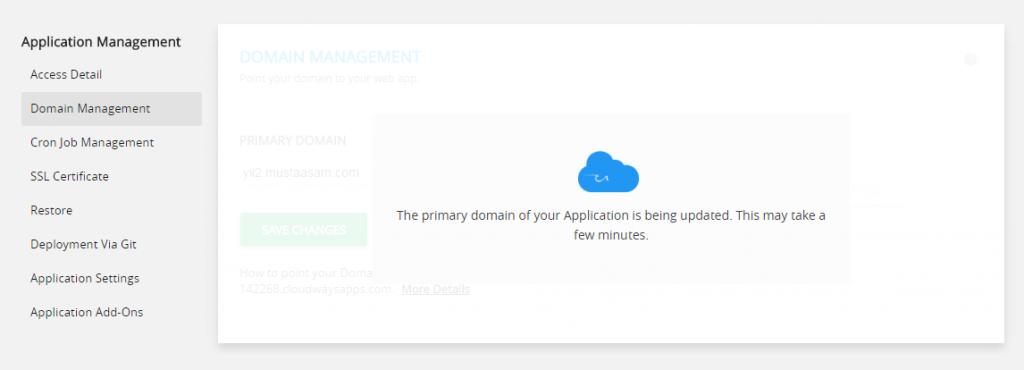 adding domain cloudways