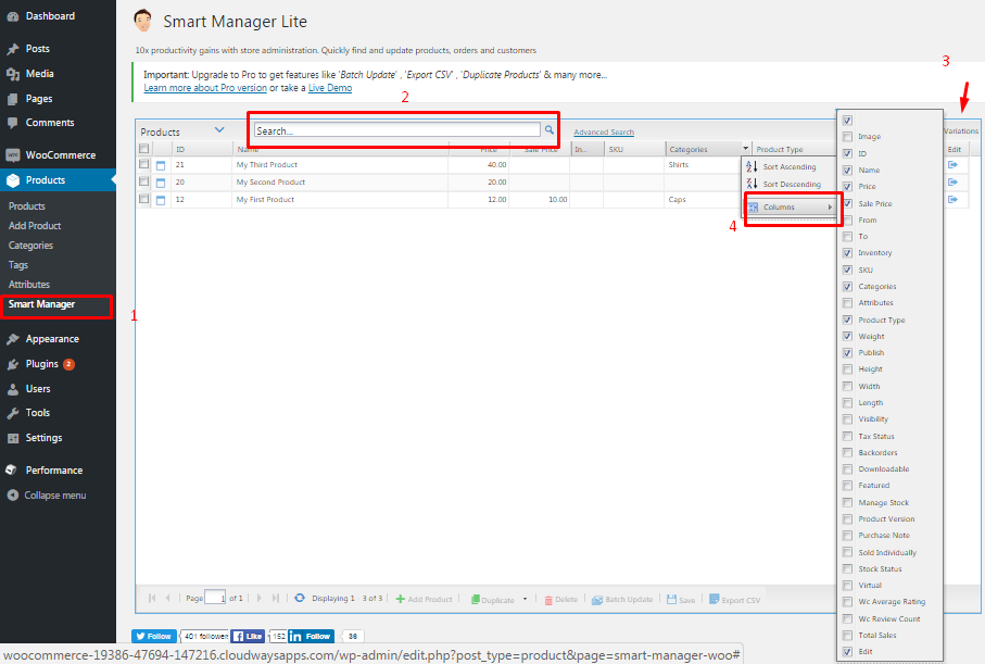 Smart Manager Features