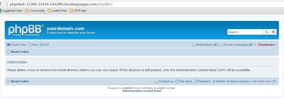 phpbb homepage
