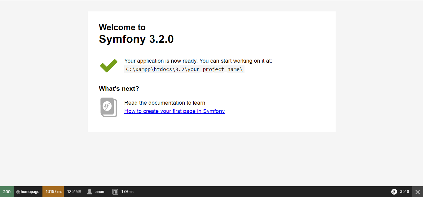 How to install symfony 3.2 on cloudways