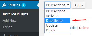 Deactivate Plugins