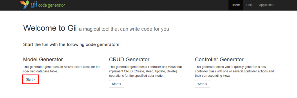 Start With Model Generator