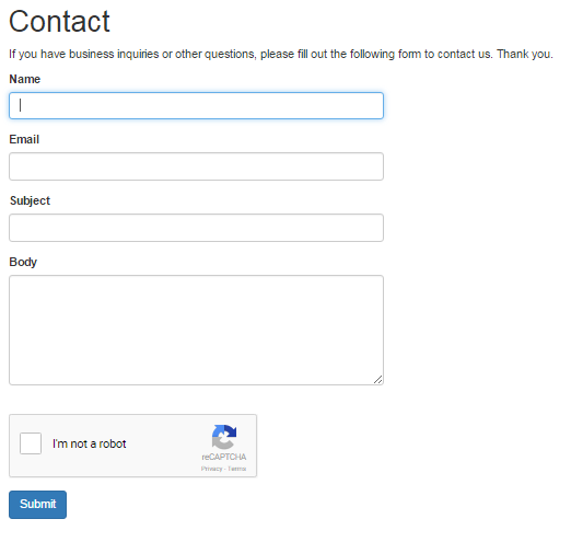 yii contact form