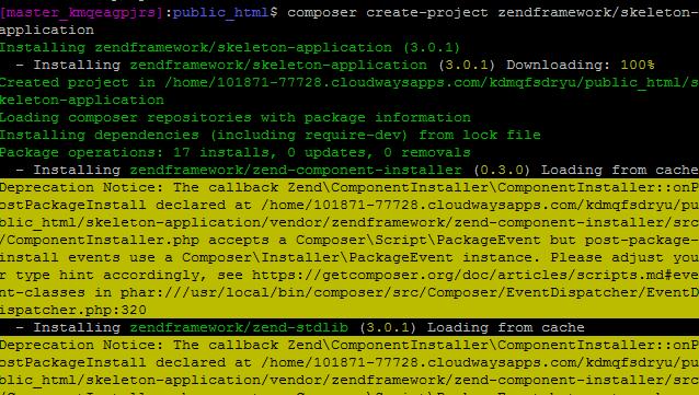Hosting Zend Framework 3 on Cloud Server