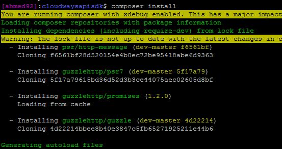 install using composer