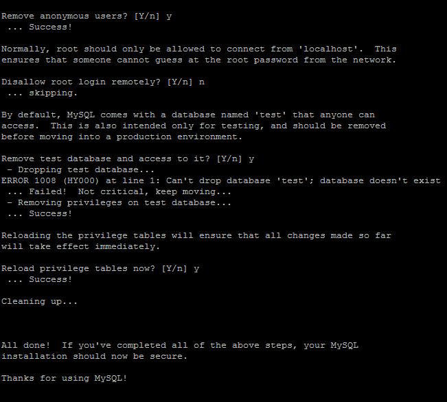 installing mysql on debian 2