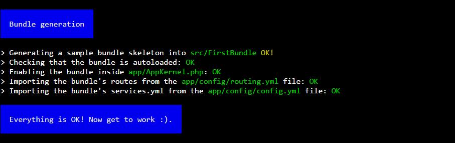 SSH terminal Symfony