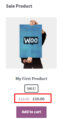 sale product page